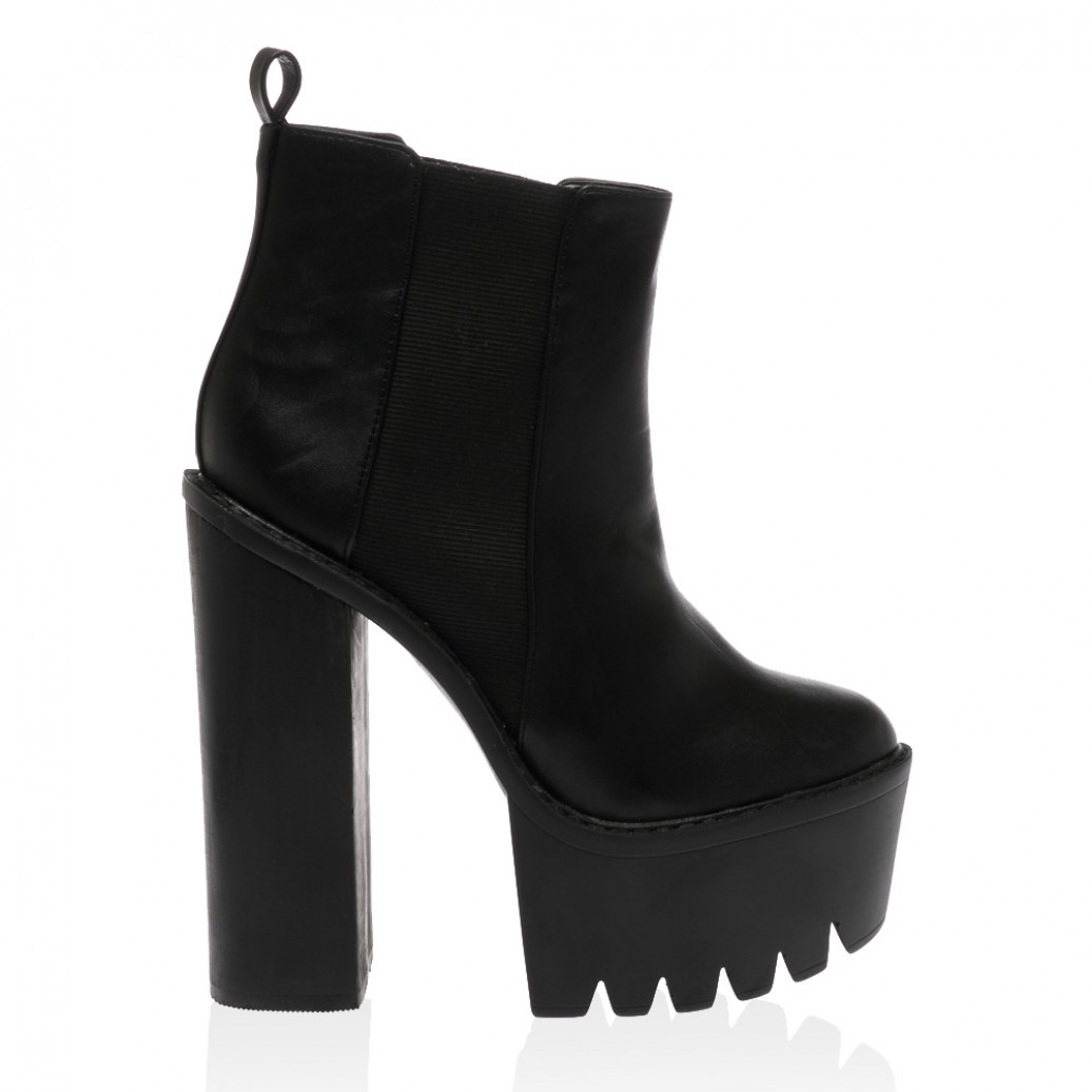 Alegra black pu boots