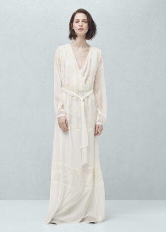 dress wrap dress long dress oversized v neck