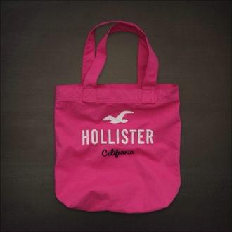 bag hollister pink pink bag black