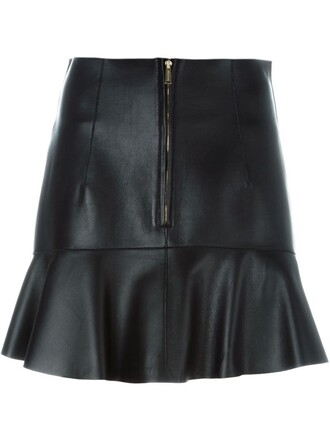 skirt peplum skirt black
