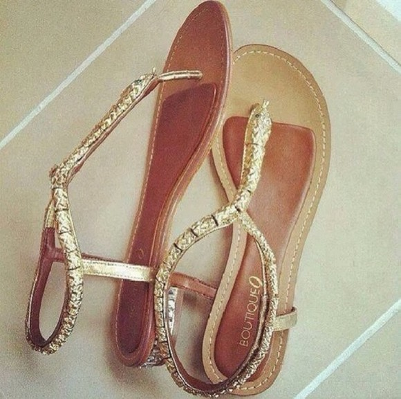 shoes sandals brown gold