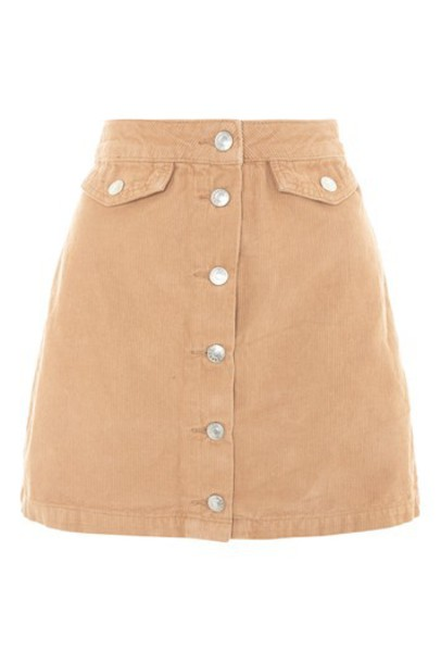 Topshop skirt tan