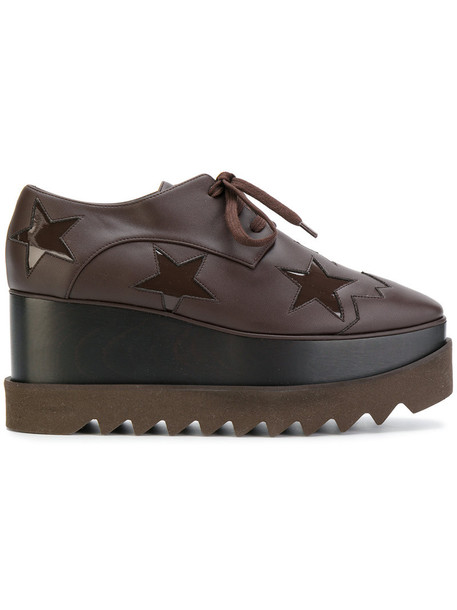 Stella McCartney women shoes platform shoes leather brown