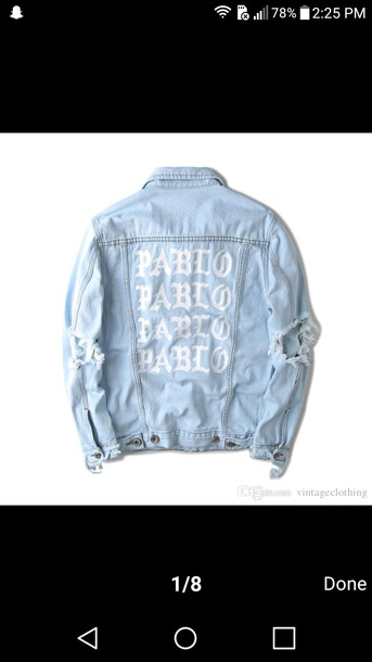 jacket light washed denim pablo