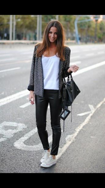 jacket grise et noir laine