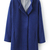 ROMWE | Belted Collar Blue Woolen Coat, The Latest Street Fashion