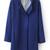 ROMWE | Belted Collar Blue Woolen Coat, The Latest Street Fashion