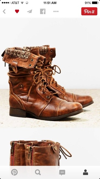 shoes boots combat boots brown boots brown combat boots folded combat boots