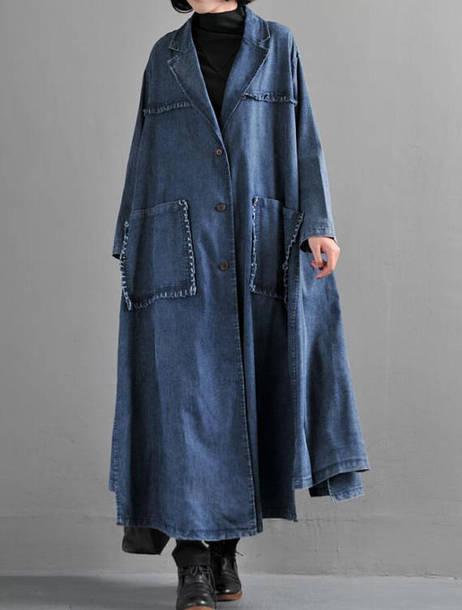coat loose cowboy windbreaker jacket long coat