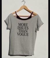 shirt,grey,vogue,style,black,findit,gogogogogogogo,gogo,FIND IT,fashion,clothes,school outfit,grey t-shirt,graphic tee