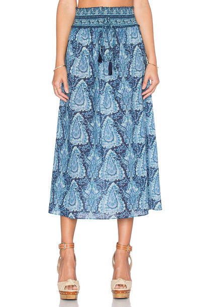 LoveShackFancy skirt blue