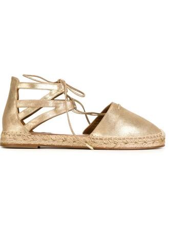 espadrilles metallic shoes