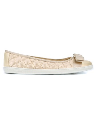 women quilted leather suede grey metallic shoes