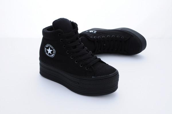 shoes grunge goth plateau shoes plateau platform shoes flatform converse pastel goth alternative rock indie
