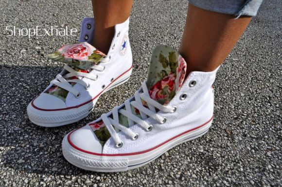 shoes floral converse all star converse white high tops converse high tops converse floral