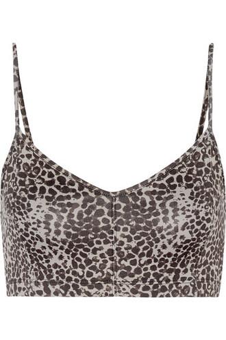 bra sports bra print leopard print underwear