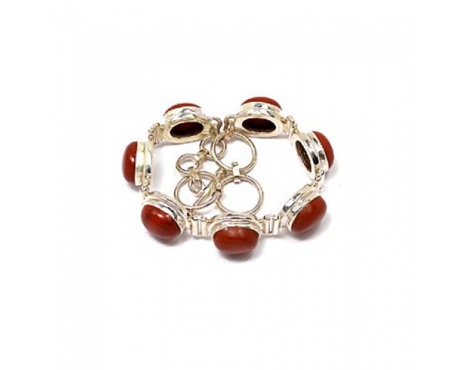 Amazing 925 sterling silver Red Jasper Bracelet
