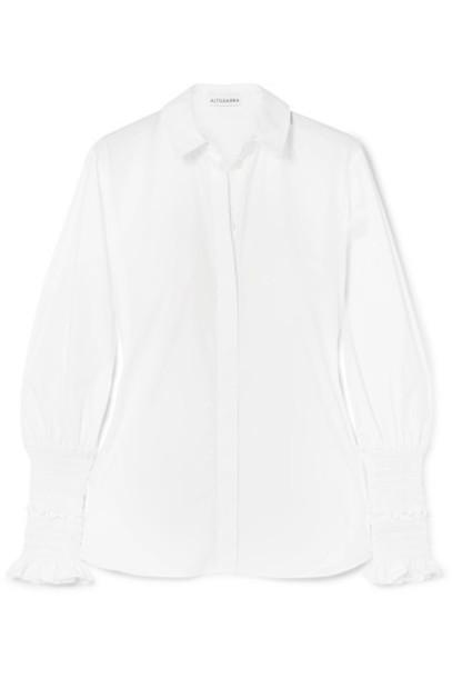 Altuzarra shirt white cotton top