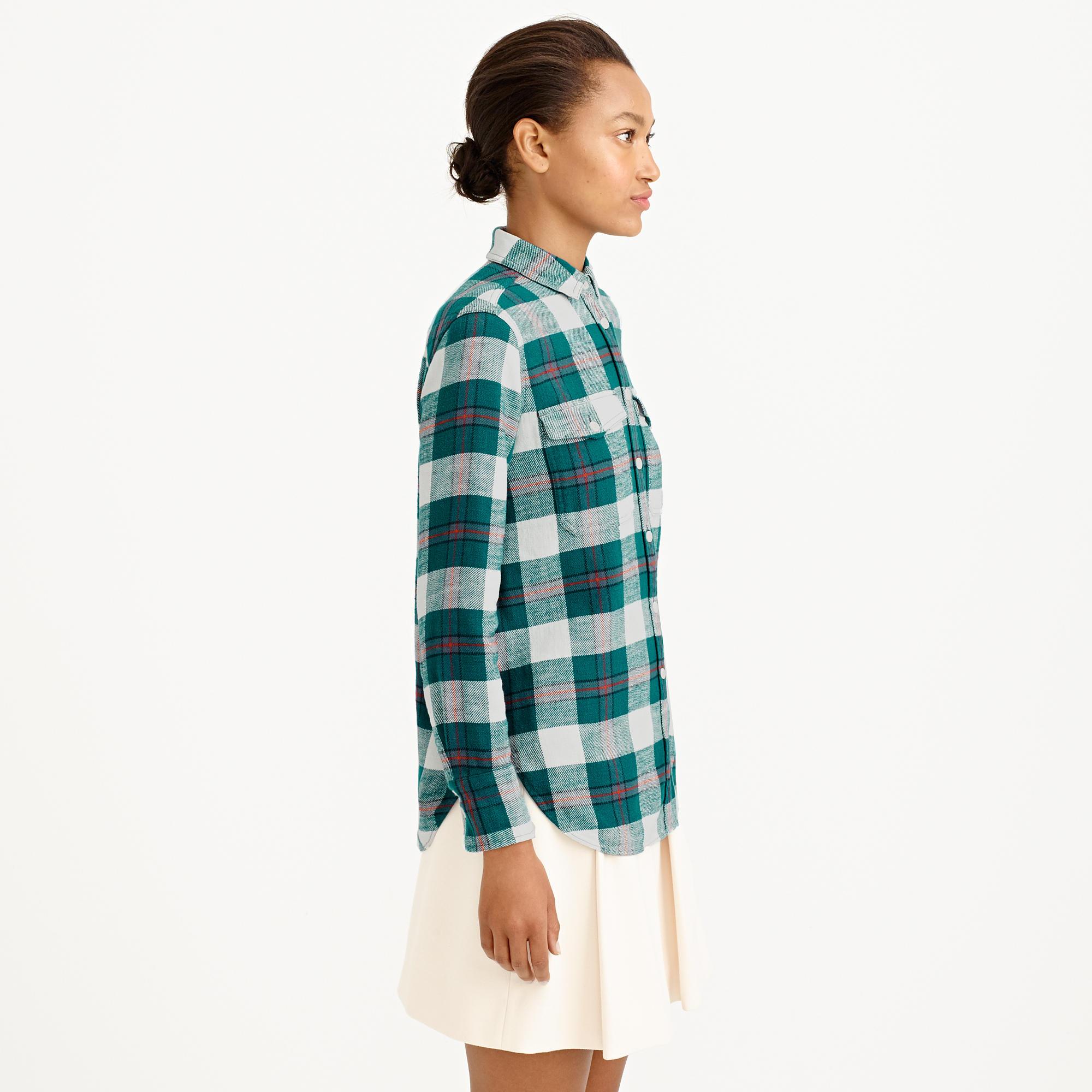 Boyfriend flannel shirt in bluegrass plaid