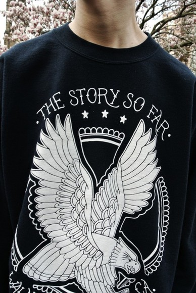 blue sweater cotton band merch bandsweater