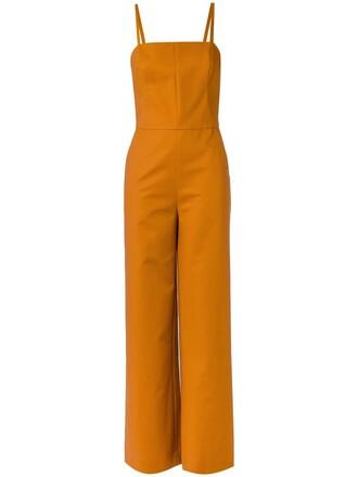 jumpsuit straps women spandex cotton yellow orange
