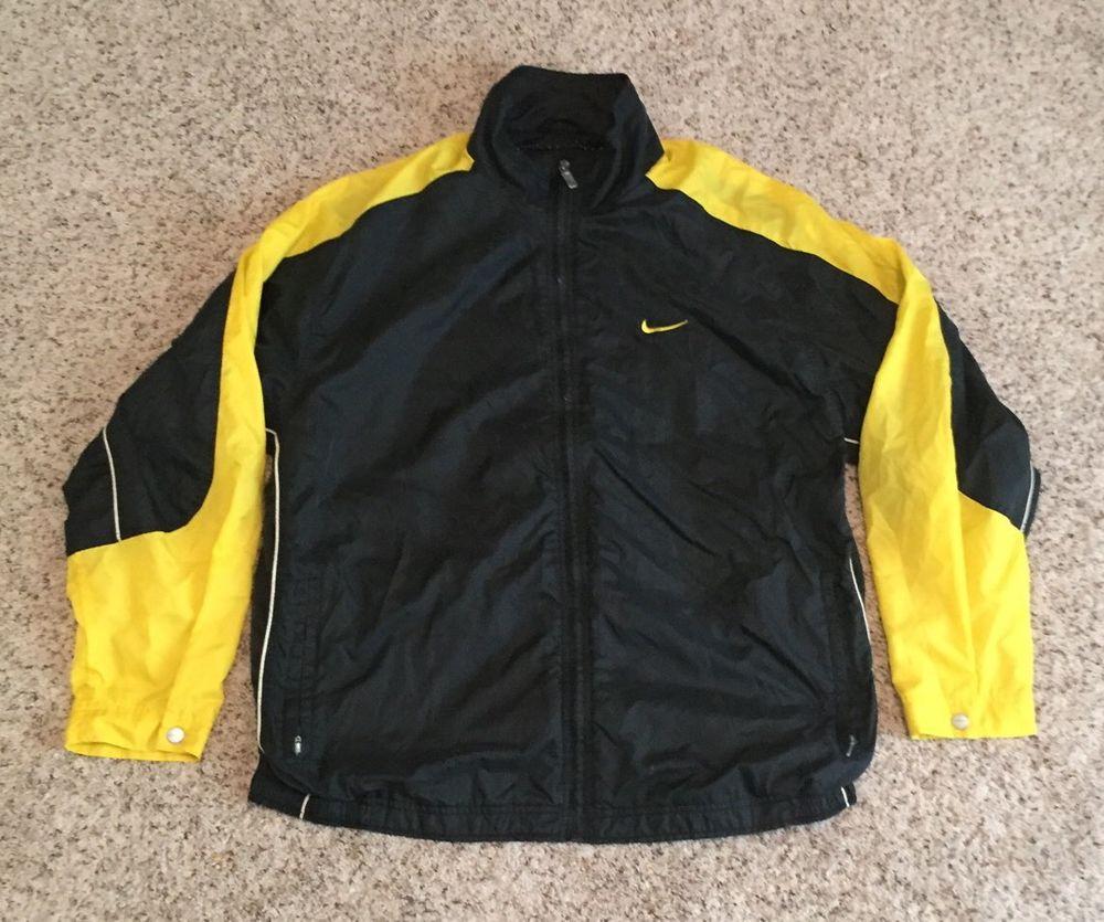 4afeda51e Vintage Nike 90s Mens Yellow/Black Vented Windbreaker Jacket Men's SZ XL