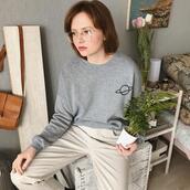 kristina magdalina,blogger,sweater,pants,grey sweater