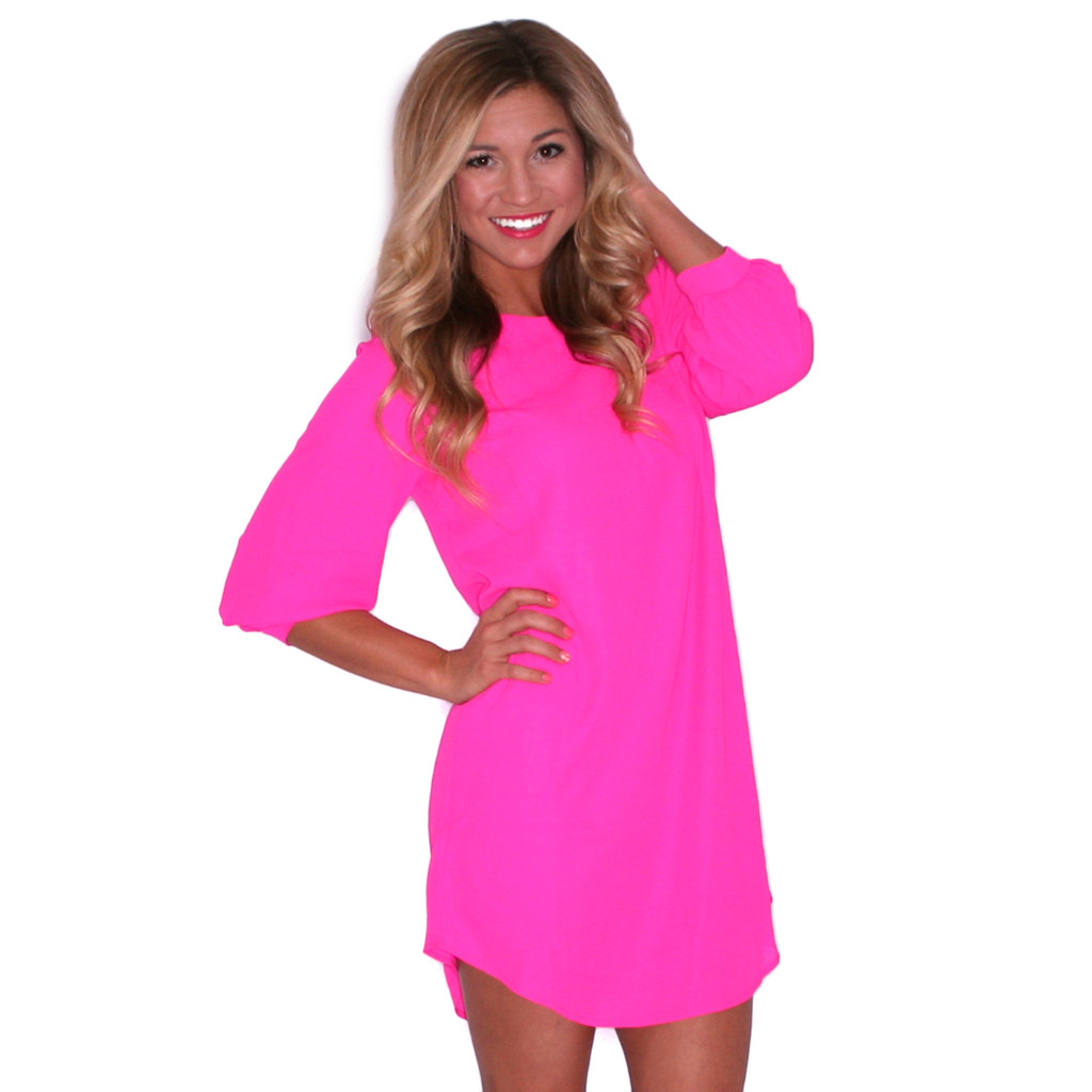 In Pink Shift Dress | Impressions Online Women's Clothing Boutique