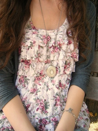 shirt rosy floral
