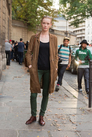 coat trench coat forest green brown