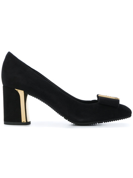 Baldinini women pumps leather suede black shoes