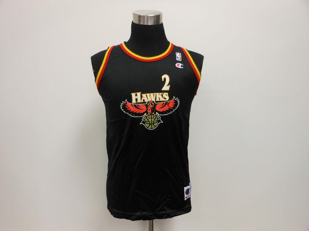 Vtg 90s Champion Atlanta Hawks Stacey Augmon 2 Basketball Jersey ... 7f514b6db