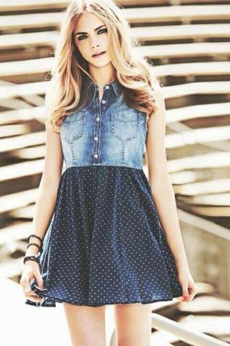 cara delevingne jeans dress summer dress summer outfits blond hair breclets