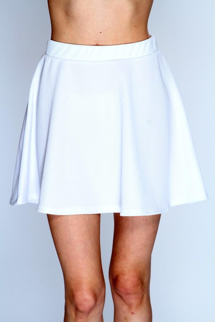 White A-Line Skater Skirt