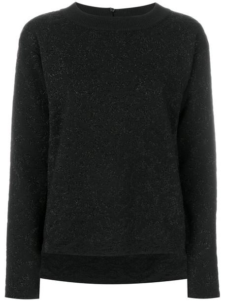 Fendi - shimmer knit sweater - women - Polyamide/Polyester/Wool - 42, Black, Polyamide/Polyester/Wool