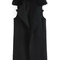 Lapel slit long black vest