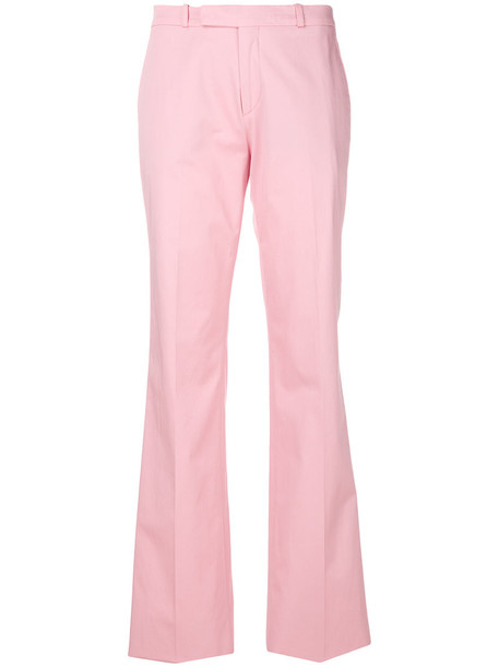 high women spandex cotton purple pink pants