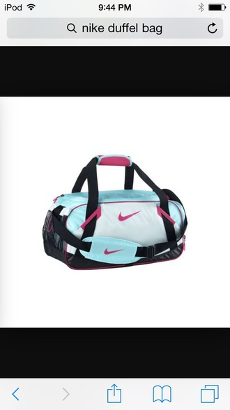 bag nike duffel bag pink black teal