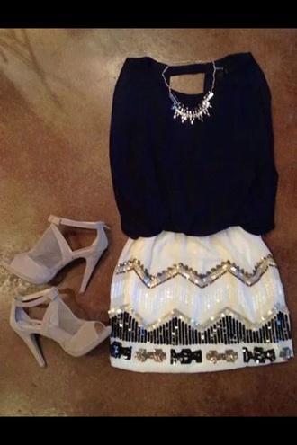 skirt clubwear party dress jewels t-shirt bag belt