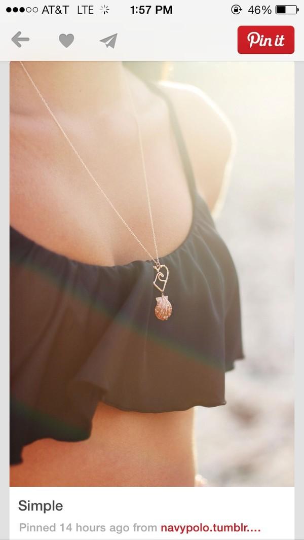 swimwear black bikini ruffle