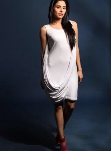 dress white white dress sash fancy scoop neck fitted dress