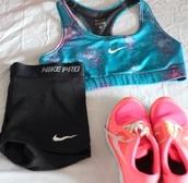 underwear,sports bra,nike,shorts,nike running shoes,shoes,tank top,blue,purple,nike sports bra
