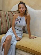 top,maxi skirt,summer,summer outfits,crop tops,slit skirt,nicole richie,instagram,celebrity