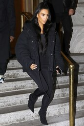 pants,kim kardashian,kardashians,celebrity,all black everything,black