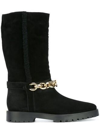 embellished boots black shoes