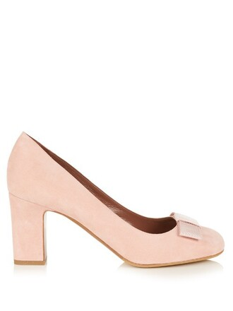 suede pumps bow pumps suede light pink light pink shoes