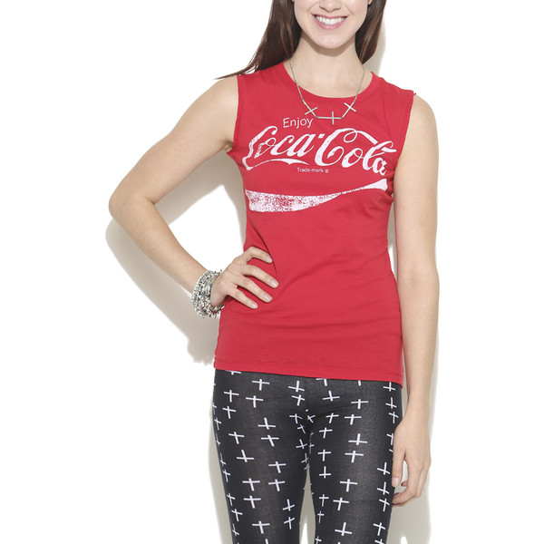 Coca-Cola Burnout Tank - Wet Seal - Polyvore