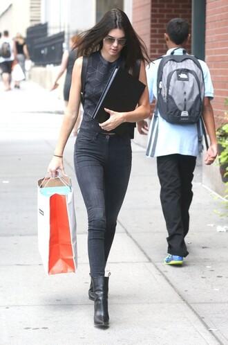 top jeans kendall jenner backpack bag