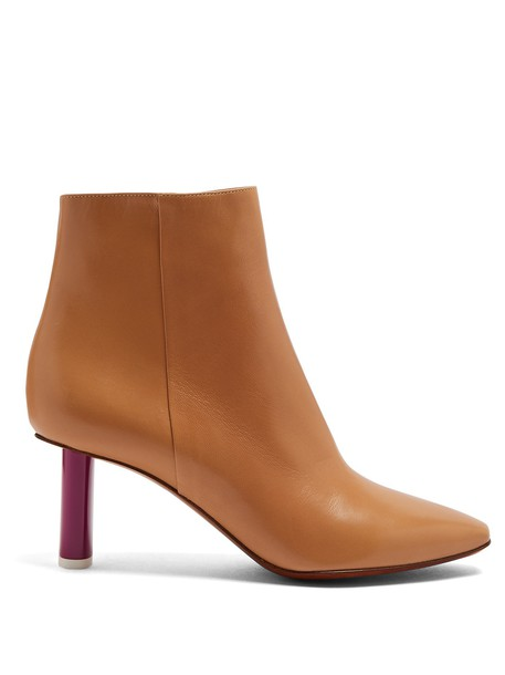 Vetements heel leather ankle boots ankle boots leather camel shoes