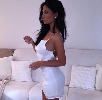 dress white dress short cute